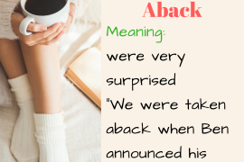idiom of the day taken aback