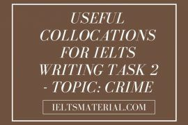 Useful Collocations For IELTS Writing Task 2 - Topic: Crime