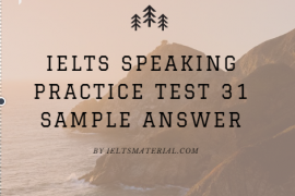 IETLS SPEAKING TEST 31 By Ieltsmaterial.com