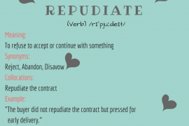 word-of-the-day - repudiate