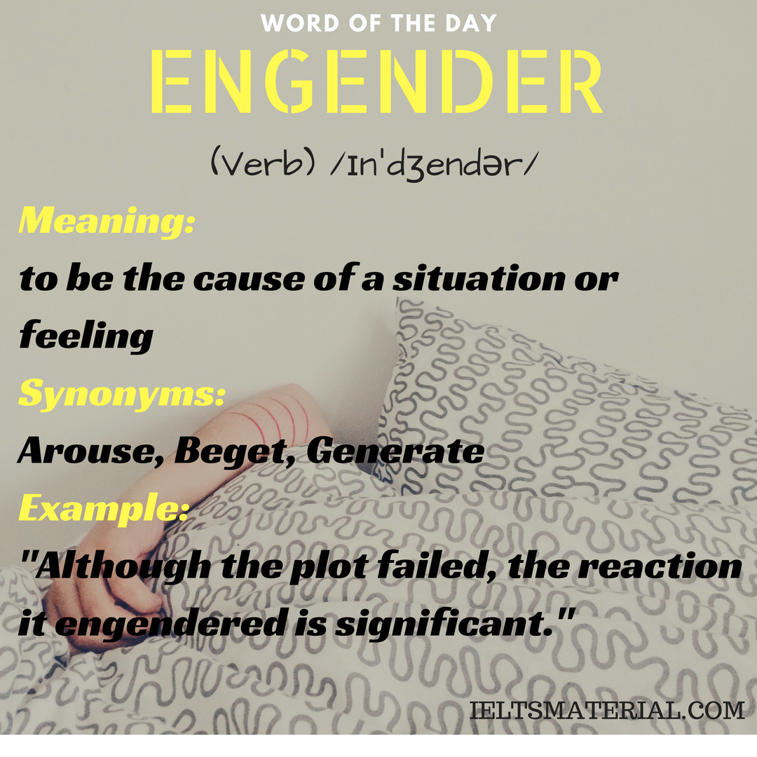word of the day ENGENDER