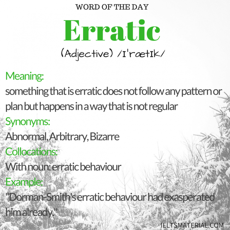Word Of The Day Erratic