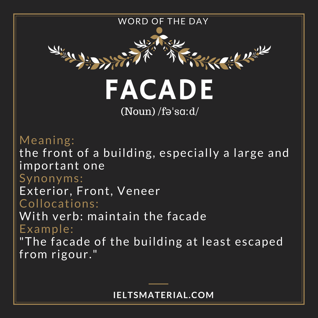 word of the day FACADE