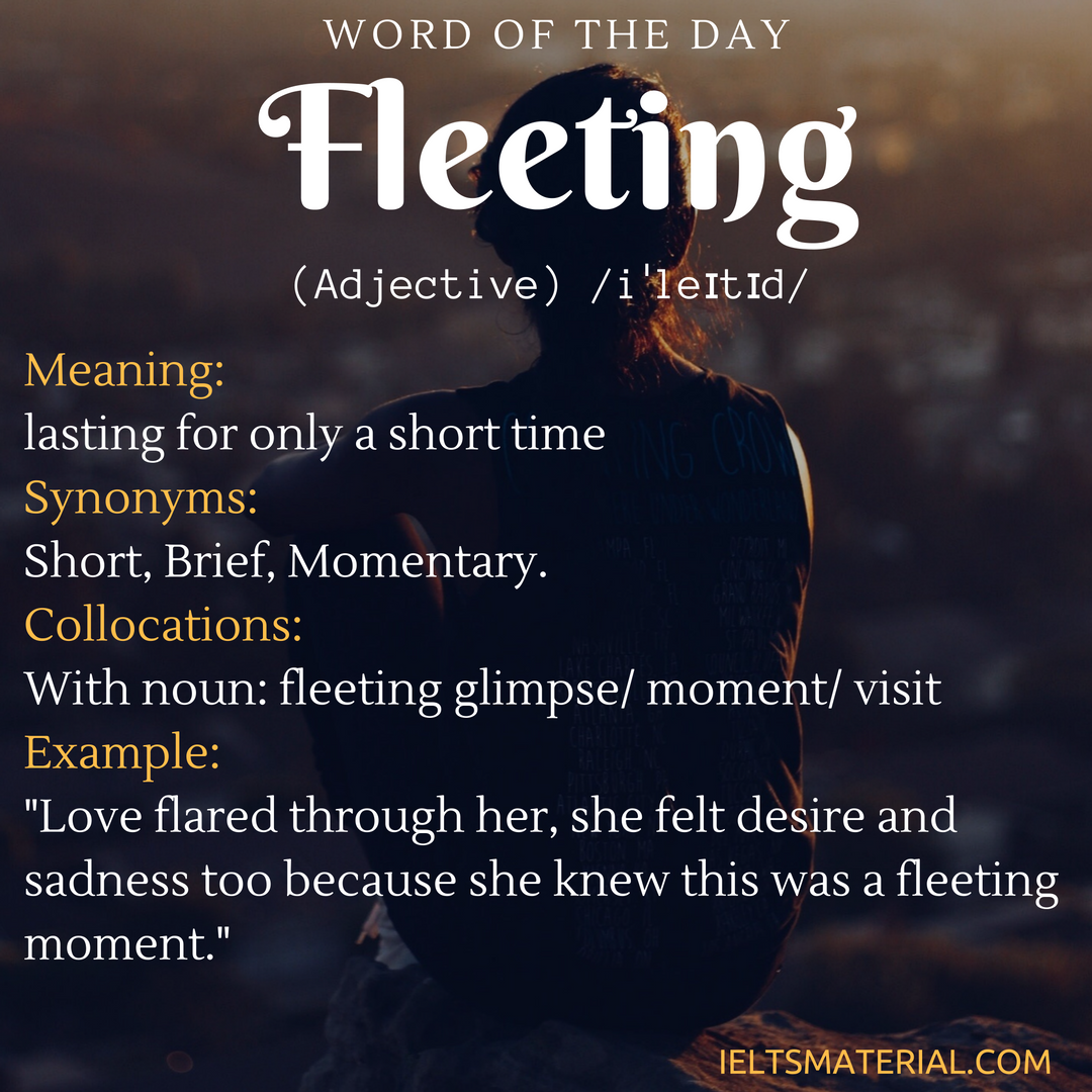 word of the day Fleeting
