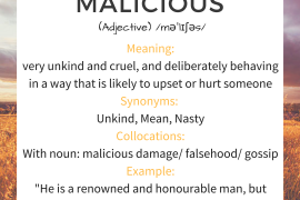 word of the day MALICIOUS