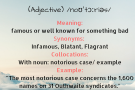 word of the day NOTORIOUS