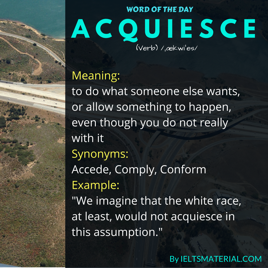 word of the day acquiesce