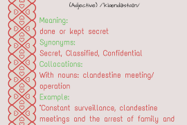 word of the day clandestine