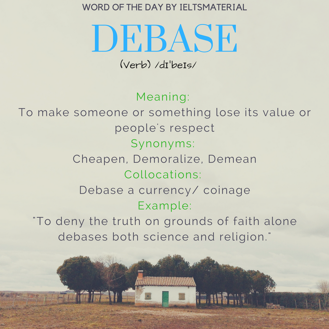 word of the day debase 1