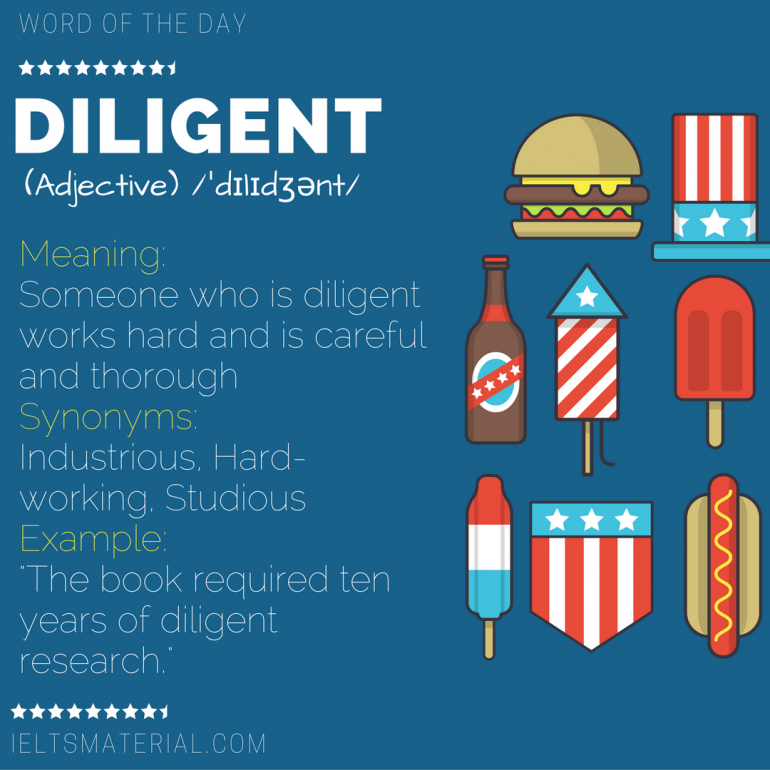 word of the day diligent