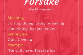 word-of-the-day-forsake