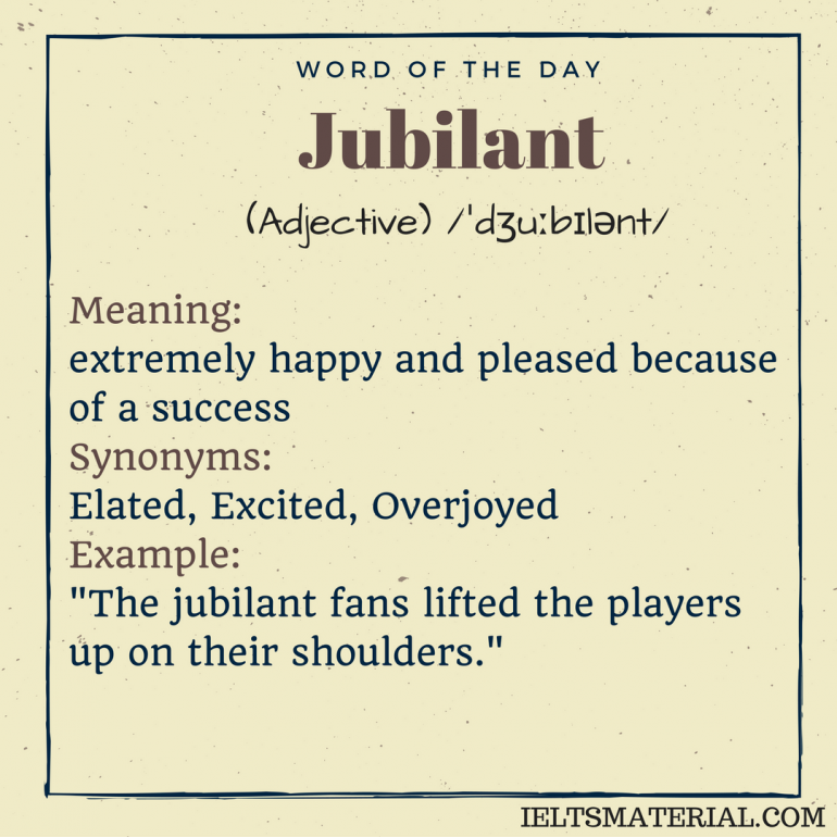 word of the day jubilant