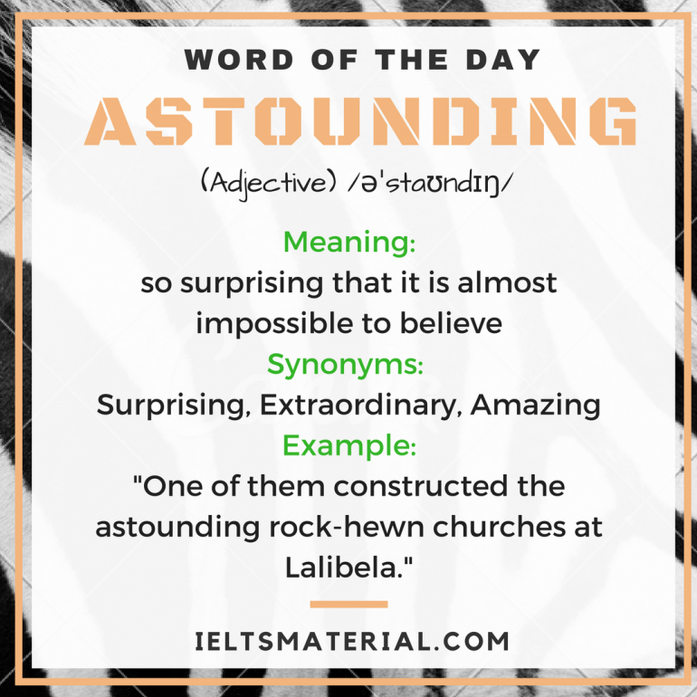 word of the day - astounding