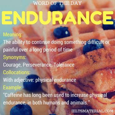 WORD OF THE DAY - endurance
