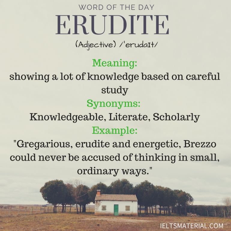 word of the day - erudite