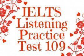 IELTS Listening Practice Test 109