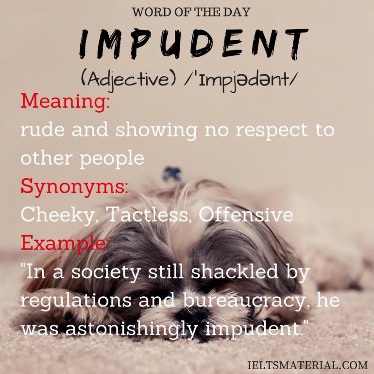 Impudent