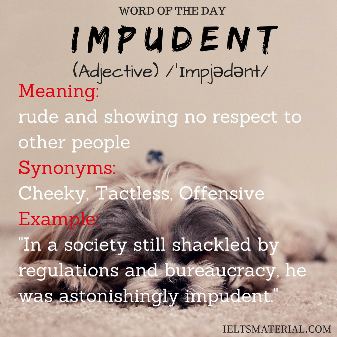 Impudent – Word Of The Day For IELTS Speaking And Writing