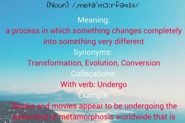 WORD OF THE DAY - metamorphosis
