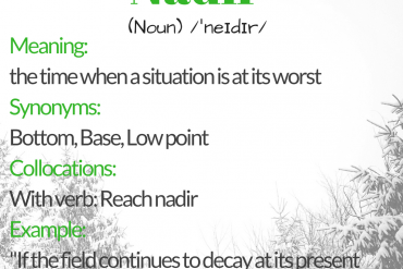 Word of the day - nadir