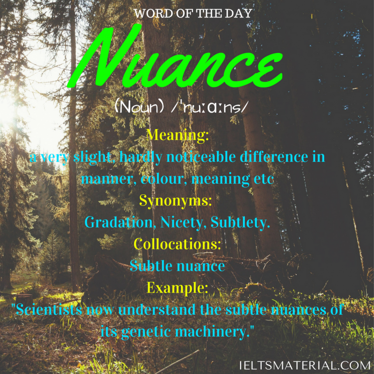 word of the day - nuance