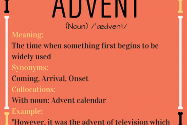 word of the day - advent