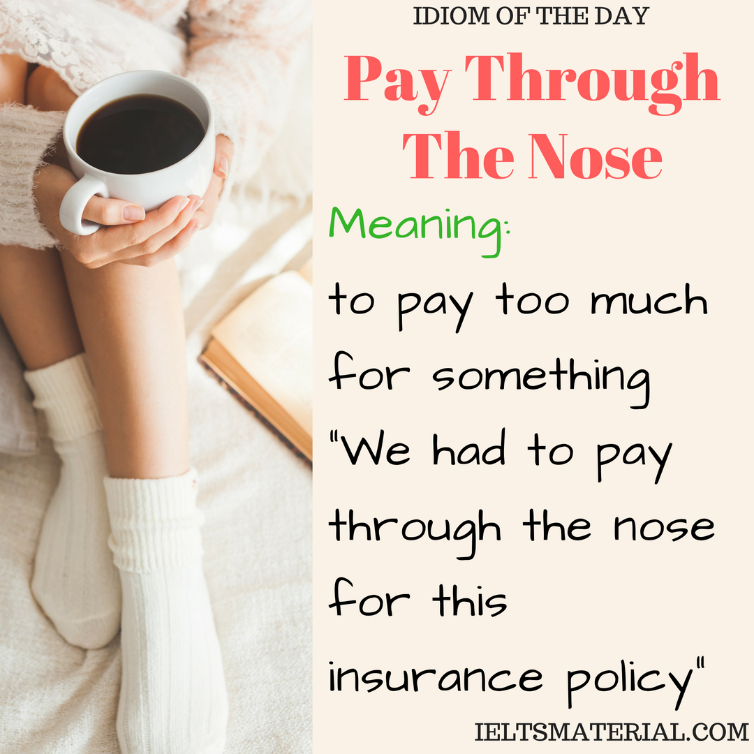 idiom of the day Pay Through The Nose
