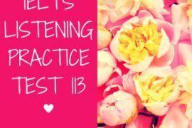 IELTS Listening Practice Test 113