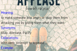 Word of the day - appease