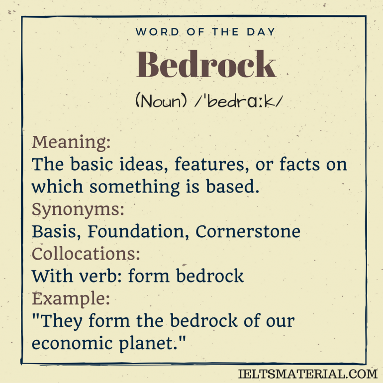 word of the day bedrock