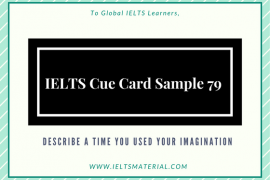IELTS Cue Card Sample 79
