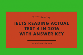 IELTS READING ACTUAL TEST 2 IN 2016 WITH ANSWER KEY