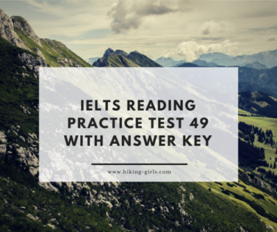 IELTS Reading Practice Test 49