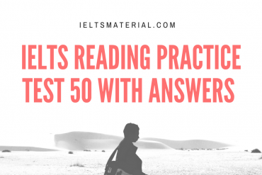 IELTS Reading Practice Test 50