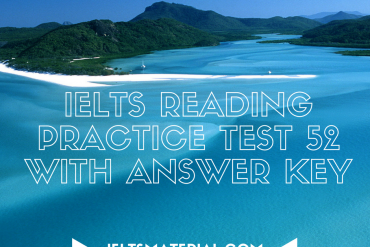 IELTS Reading Practice Test 52