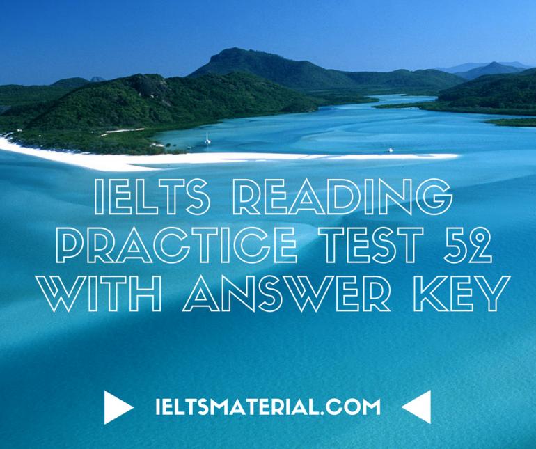 IELTS Reading Practice Test 52