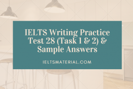 academic ielts writing task topic band model essay ielts writing practice test 28 task 1 2 sample answers
