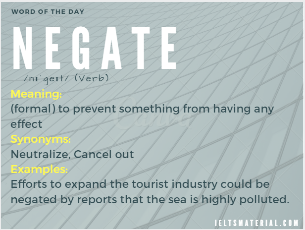 Negate – Word Of The Day For IELTS