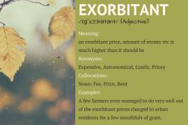EXORBITANT