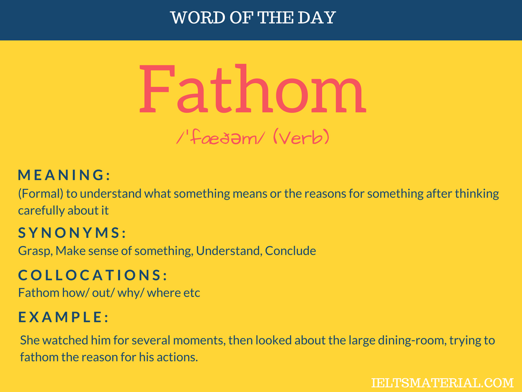 Fathom – Word Of The Day For IELTS
