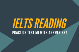 IELTS Reading Practice Test 59