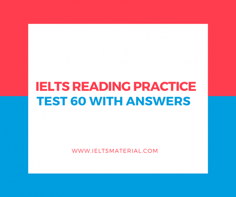 ielts academic reading test papers with answers The ielts reading test is not really a test of your reading skills it to answer this question correctly we would don't read ielts past papers.