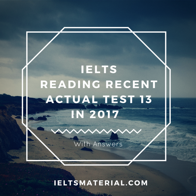 IELTS Reading Practice Test for IELTS Academic & IELTS General Training