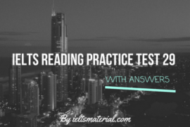IELTS Reading Recent Actual Test 29 in 2016 with Answer Key (1)