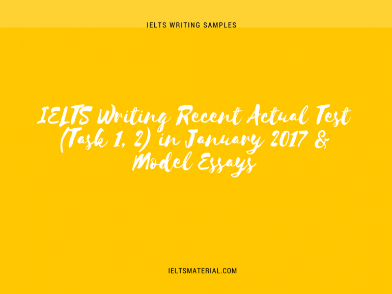 Ielts Writing Actual Test Task   In January   Model Essays Ielts Writing Recent Actual Test Task   In January   Model