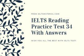 IELTS Reading Recent Actual Test 34 in 2016 with Answer Key