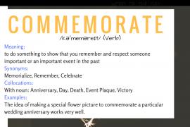 commemorate