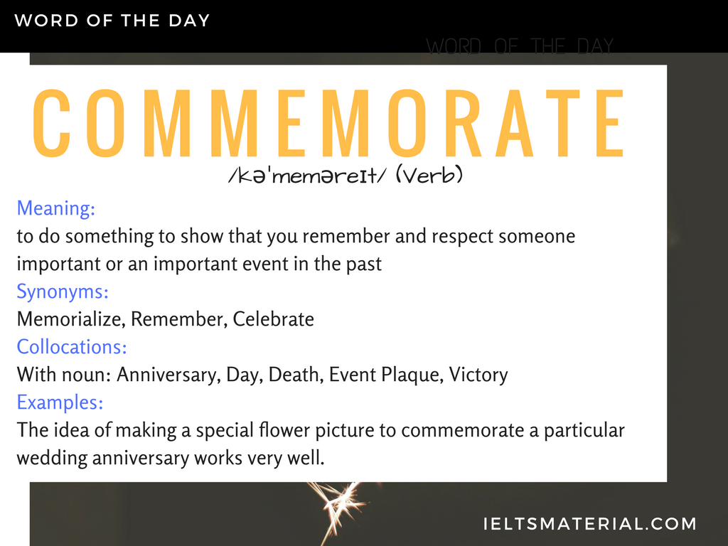 commemorate
