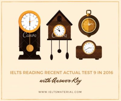 IELTS Reading Recent Actual Test