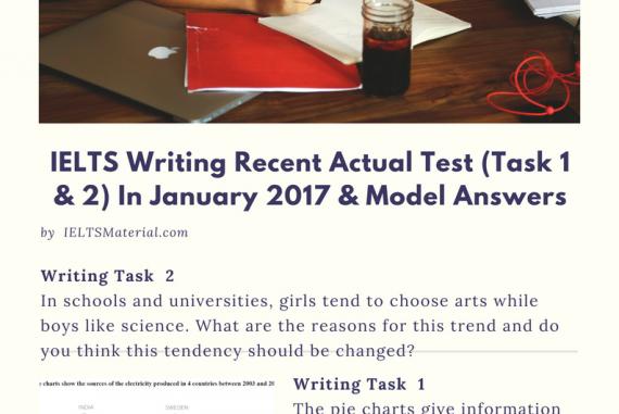 IELTS Writing Recent Actual Test (Task 1 & 2) in Vietnam